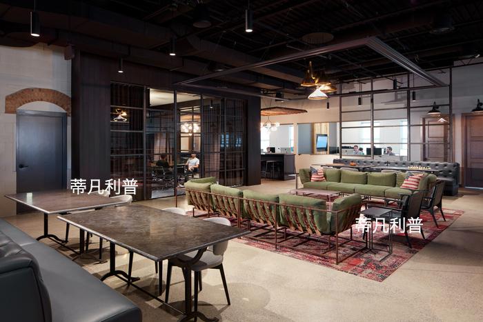 办公家具定制-拒绝平凡的初创公司,打造了复古工业风的空间