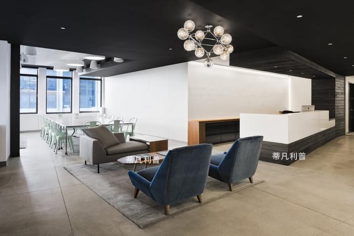 办公家具定制-黑白灰色调,干净是这个办公空间的第一印象